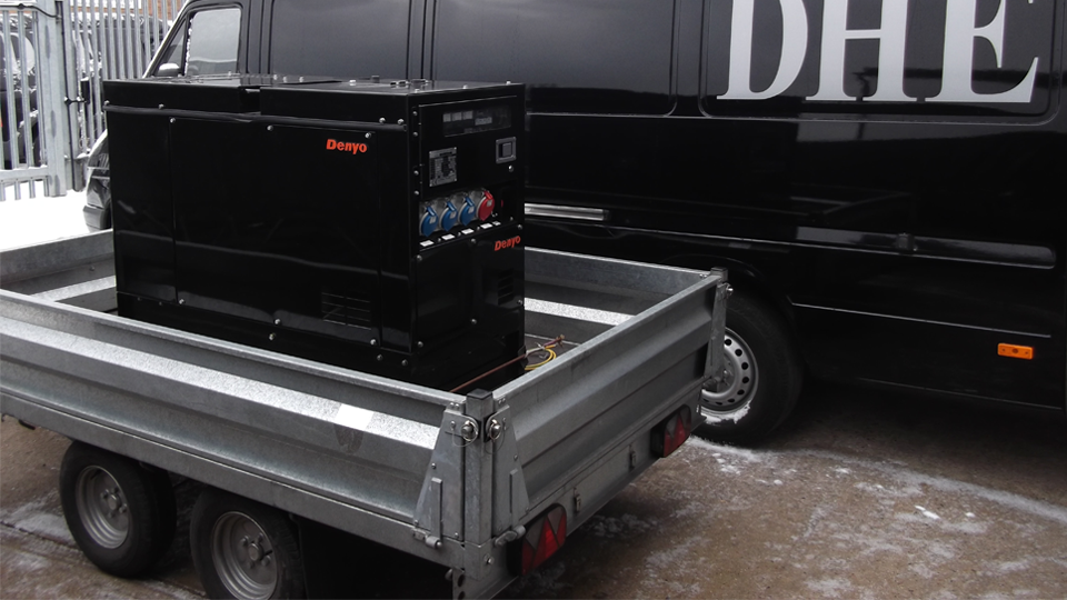 Hertfordshire Stage Hire 12.5KVA Super Silent Road Towable Diesel Generator